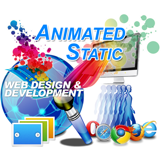 Animated Static Website Page Design