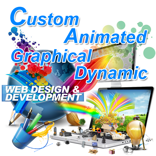 Custom Animated Graphical Dynamic  Website